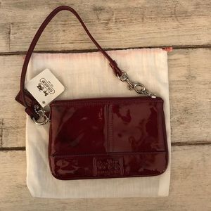 NWT Coach Patent Leather Wristlet